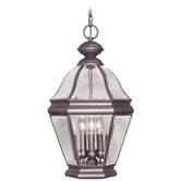 Bradford Four Light Outdoor Hanging Lantern in Bronze