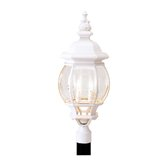 Frontenac Four Light Outdoor Post Lantern in White