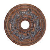 Ceiling Medallion in Crackled Bronze with Vintage Stone Accents
