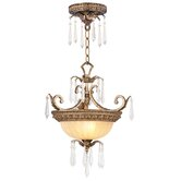 La Bella 2 Light Convertible Inverted Pendant