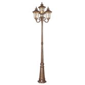 Oxford Four Light Outdoor Post Lantern in Moroccan Gold