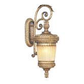 La Bella Handcrafted Outdoor Wall Lantern in Vintage Gold Leaf
