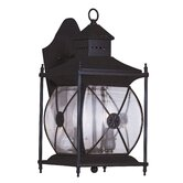 Providence Two Light Outdoor Wall Lantern in Bronze