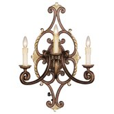 Seville Three Light Wall Sconce in Palacial Bronze