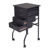 Cobalt Mobile 4 Drawer Taboret