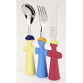 3 Piece Assorted Puppet Cutlery Set