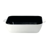 Cast Iron 26 cm Square Baking Oven Dish in White