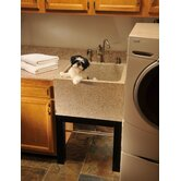 Tan Granite Deep Laundry Sink