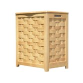 Rectangular Veneer Laundry Hamper