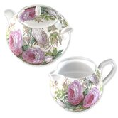 Victoria and Albert Museum Brompton Rose Sugar and Creamer Set