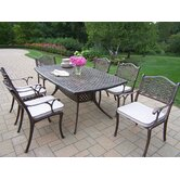 Oxford Mississippi 7 Piece Dining Set with Cushions