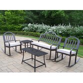 Rochester 5 Piece Rocker Seating Group with Cushions