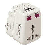 Worldwide Adapter and USB Charger in White
