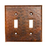 Copper Switchplate Double Toggle Switch Cover in Oil Rubbed Bronze