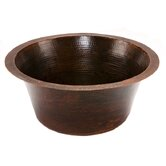 "16"" Round Hammered Copper Bar Sink in Oil Rubbed Bronze"