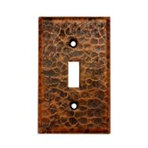 Copper Switchplate Single Toggle Switch Cover in Oil Rubbed Bronze