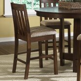 "Urban Mission Casual Dining 24"" Upholstered Barstool in Dark Oak"