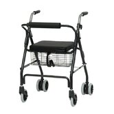 Aluminum Rollator with Pushdown Brakes