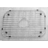 "19"" x 13.375"" Stainless Steel Sink Grid with Black Rubber Feet"