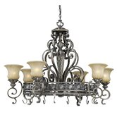 Bellagio Chandelier Pot Rack with 8 Light