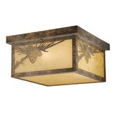 Yellowstone Outdoor Flush Mount in Olde World Patina