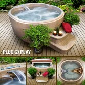 Lifesmart Rock Solid Luna Plug and Play Spa w/12 Jets Includes FREE Energy Savings Value & Performance Package