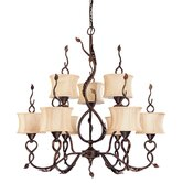 Trellio 9 Light Chandelier