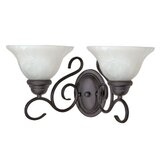 Castillo  Vanity Light in Textured Flat Black