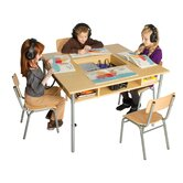 Audio Center Kids Writing Table and Chair Set