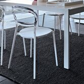 Wien Dining Chair in Glossy Optic White Lacquered by Paolo Lucidi and Luca Pevere