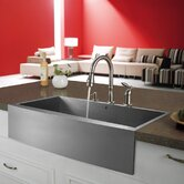"36"" Stainless Steel Farmhouse Kitchen Sink Set"