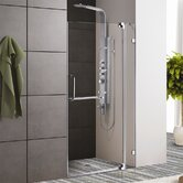 "Frameless Shower Door with 3/8"" Clear Glass"