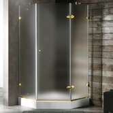 Neo-Angle Door Frameless Shower Enclosure with Base & Knob Handles