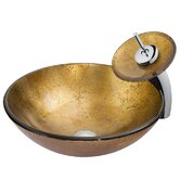 Copper Sun Sink and Waterfall Faucet