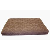 Quilted Orthopedic Dog Bed with Protector™ Pad in Chocolate