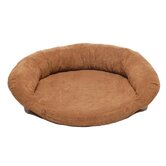 Memory Foam Bolster Dog Bed with Protector™ Pad in Chocolate