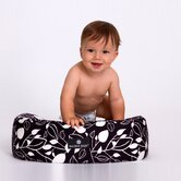 Nursing Pillow in Black and White Leaf