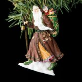 """Austrian Father Christmas"" Santa with Bag Ornament"