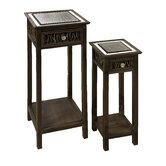Multi-Tiered Telephone Tables (Set of 2)