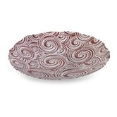 Peppermint Swirl Glass Bowl