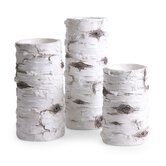 Woodland Birch Candlestick (Set of 3)