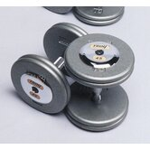 85 lbs Pro-Style Cast Dumbbells in Gray