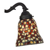 Amber and Brown Mosaic Ceiling Fan Glass Shades