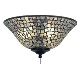 Clear and Frosted Mosaic Ceiling Fan Glass Bowl Shade