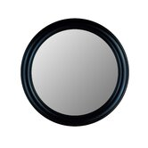 Round Mirror in True Black
