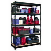 Iron Horse Rivet 72&quot; H x 48&quot; W Five Shelf Shelving Unit