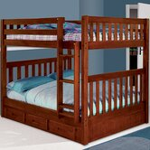 Weston Full over Full Bunk Bed with Built-In Ladder and Storage