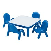 Square Baseline Toddler Table And Chair Set in Royal Blue