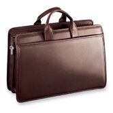 Platinum Double Gusset Zip Top Briefcase