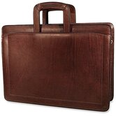 Belting Triple Gusset Zip Top Briefcase